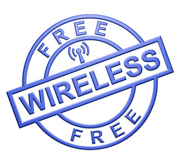 """ Free Wireless"" Blue Icon"