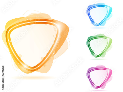 Colorful Neon Bubble Frame Triangle