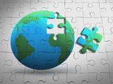 3d Global puzzle
