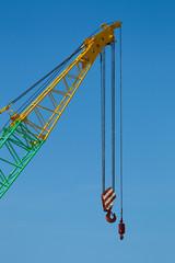Crane boom with main and jib block