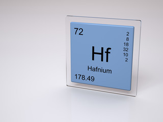 Hafnium - symbol Hf - chemical element of the periodic table