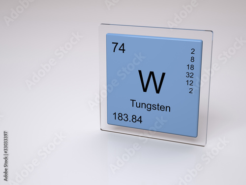 Tungsten symbol w chemical element of the periodic - Tungsten symbol periodic table ...
