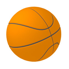 Basketball ball isolated