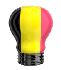 3d lamp with Belgium flag isolated