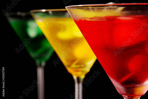 Macro photo of Martini drinks