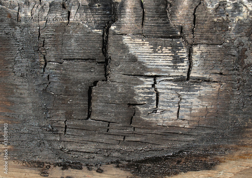 Burned wood