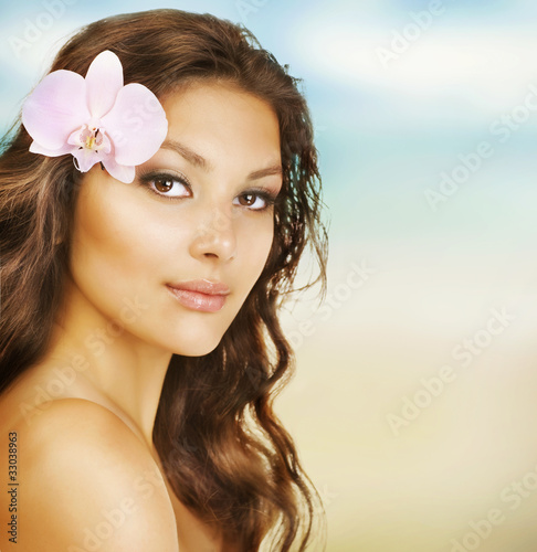 Beautiful Summer Woman on the Beach