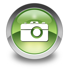"Green Glossy Pictogram ""Camera"""