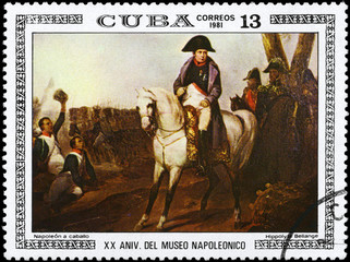 CUBA - CIRCA 1981 Napoleon on Horseback