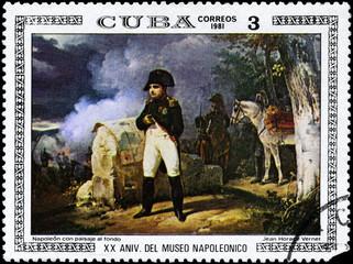 CUBA - CIRCA 1981 Napoleon with Landscape
