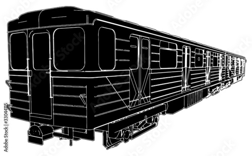 Metro Train Wagon Vector 02