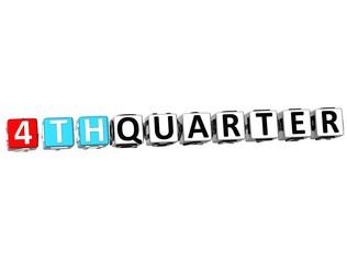 3D 4 Th Quarter Cube Text