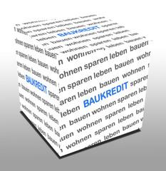 3D Wuerfel BAUKREDIT