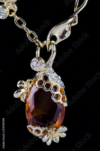 pendant closeup with big gem