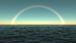 The sea / ocean and a rainbow