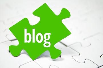 Puzzle mit Blog