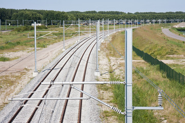 New railway in the netherlands