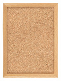 Cork board high detail. isolated on white background