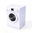 Leinwanddruck Bild - Washing machine isolated over white - 3d render