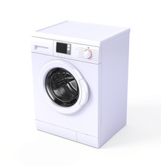Washing machine isolated over white - 3d render