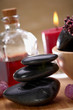 spa, black hot stone massage