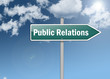 "Signpost ""Public Relations"""