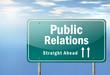 "Highway Signpost ""Public Relations"""