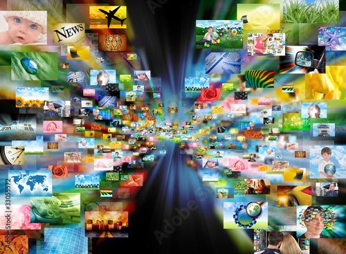 Leinwandbild Motiv Image Gallery of Photos Zooming Out