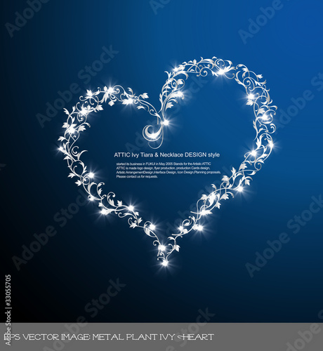 eps Vector image: metal plant Ivy Heart
