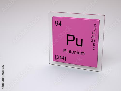 Plutonium Symbol Pu Chemical Element Of The Periodic Table Buy