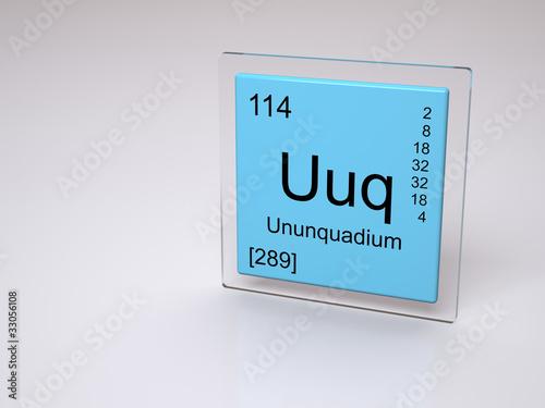 Ununquadium uuq chemical element of the periodic for 114 element periodic table