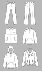 Man clothes greyscale autumn collection