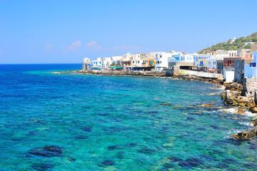 Azure seascape of the Aegean sea