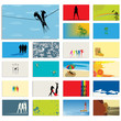 Graphic business card set
