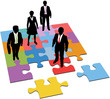 Business people solution management resources puzzle