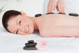 Beautiful woman having a LaStone therapy