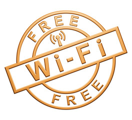 """Wi-Fi Free"" Orange Icon"