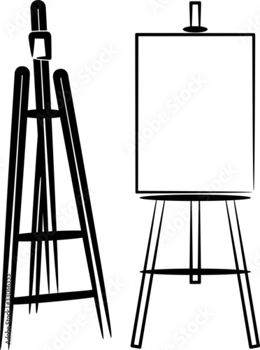 simple illustration with easels