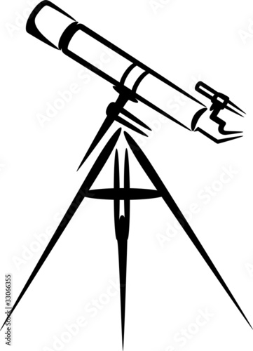 simple illustration with telescope