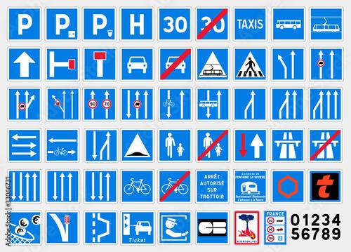 Panneaux d'indication 1