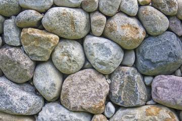 Steinmauer aus Geröll