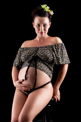 Beautiful adult pregnant woman