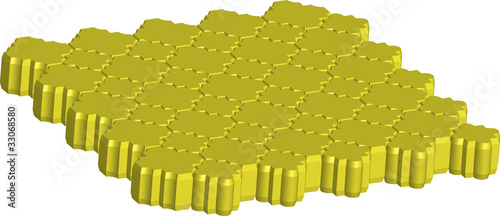 bricks for sidewalk stellate yellow