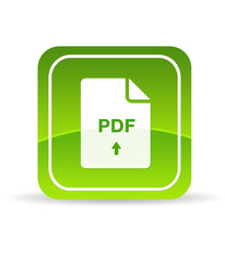 Green PDF Document Icon
