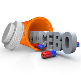 Prescription Medicine Bottle - Placebo Capsule Word