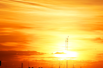 Sunset, Thailand,