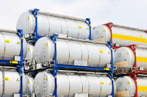 chemical and fuel storage tanks for transport Poster