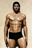 Sexy shirtless male model