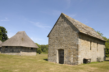 Medieval buildings in grounds of Bailiffscourt Hotel, Sussex