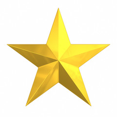 Brushed Gold Star